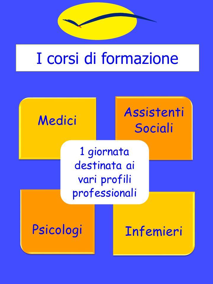 I corsi di formazione Medici Assistenti Sociali Psicologi Infemieri 1 giornata destinata ai vari profili professionali