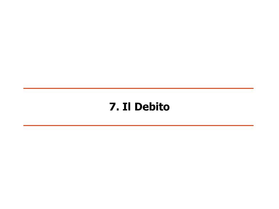 7. Il Debito