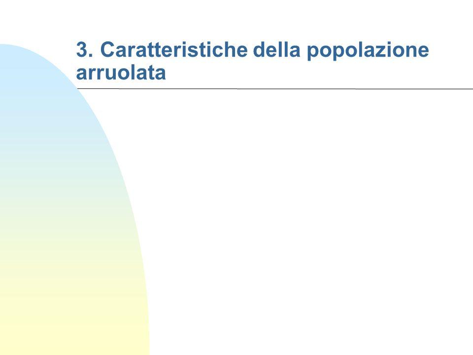 3. Caratteristiche della popolazione arruolata