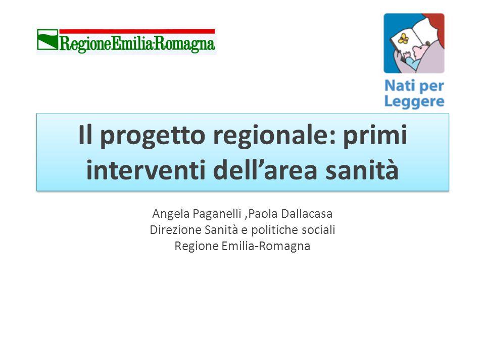 Il progetto regionale: primi interventi dellarea sanità Angela Paganelli,Paola Dallacasa Direzione Sanità e politiche sociali Regione Emilia-Romagna