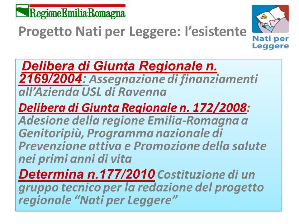 Progetto Nati per Leggere: lesistente Delibera di Giunta Regionale n.