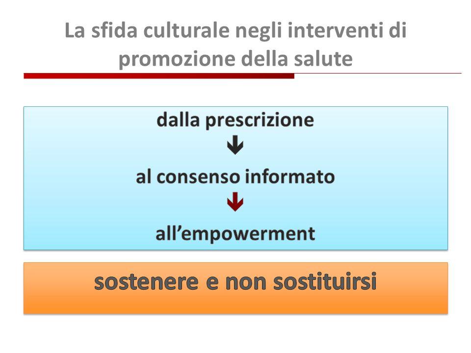 La sfida culturale negli interventi di promozione della salute