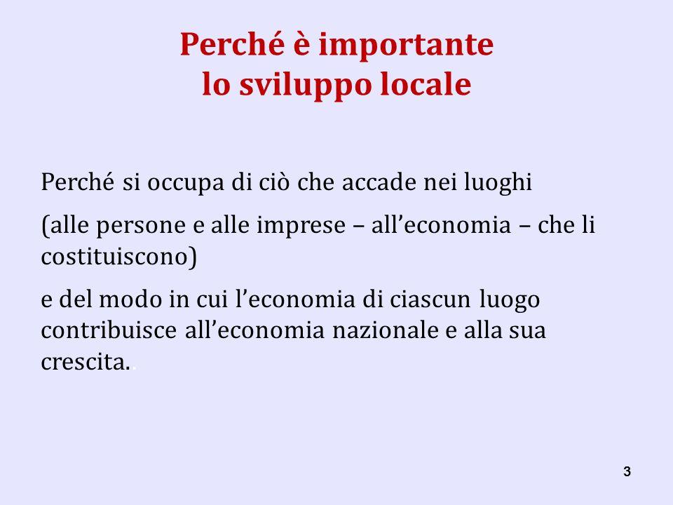 44 Perché è importante lo sviluppo locale Quindi il luogo è lunità danalisi dello sviluppo locale.