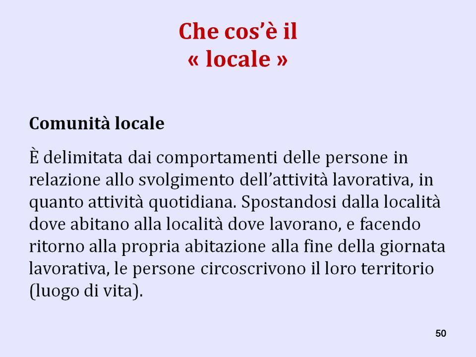 50 Che cosè il « locale »