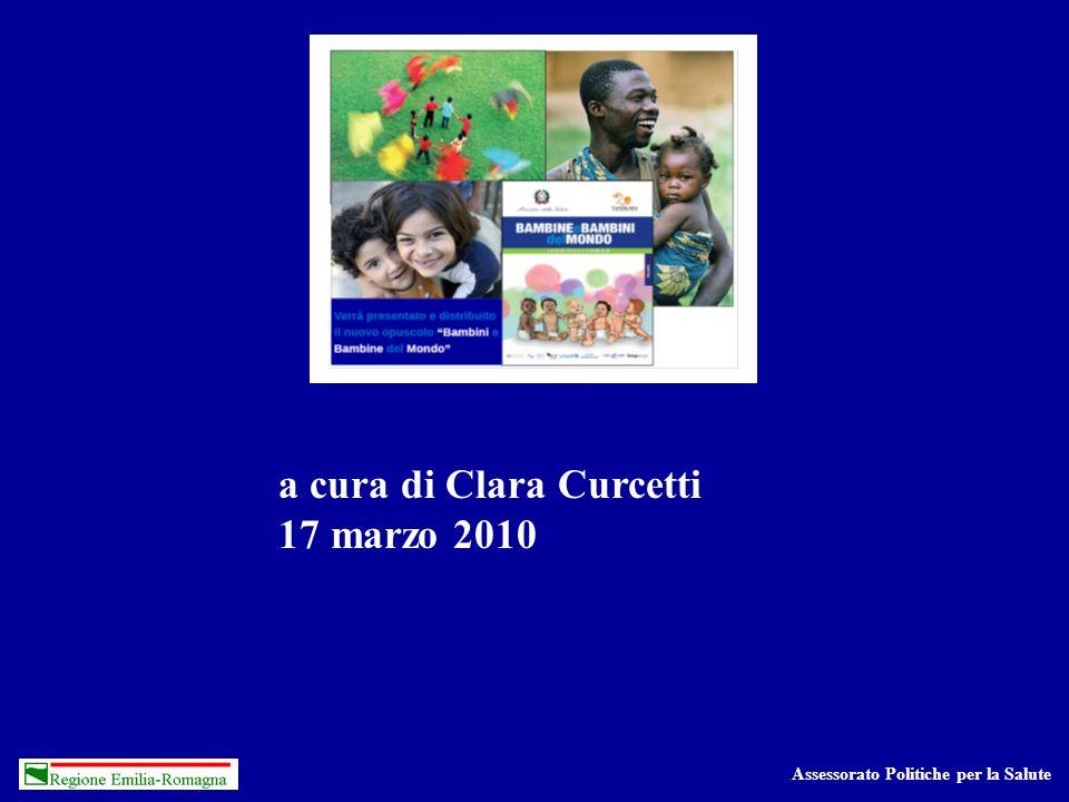Assessorato Politiche per la Salute a cura di Clara Curcetti 17 marzo 2010