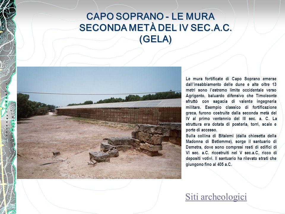 S.GIULIANO ETÀ DEL BRONZO ANTICO (2200-1450 A.C.) CALTANISSETTA S.