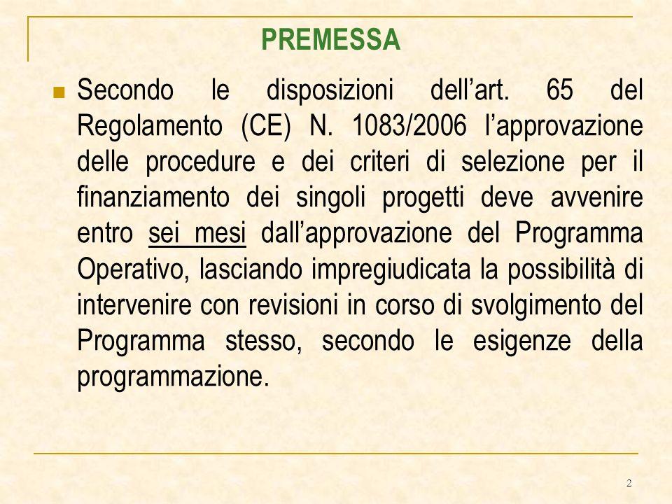 2 Secondo le disposizioni dellart. 65 del Regolamento (CE) N.