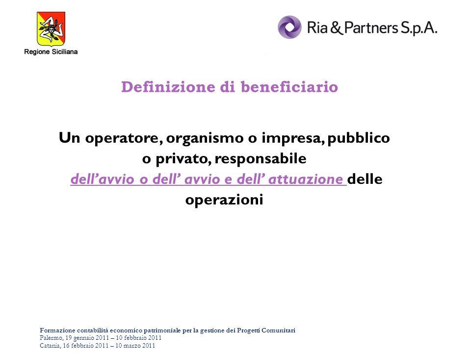 Formazione contabilità economico patrimoniale per la gestione dei Progetti Comunitari Palermo, 19 gennaio 2011 – 10 febbraio 2011 Catania, 16 febbraio 2011 – 10 marzo 2011 AFFIDAMENTO DI PARTE DELLE ATTIVITÀ A TERZI