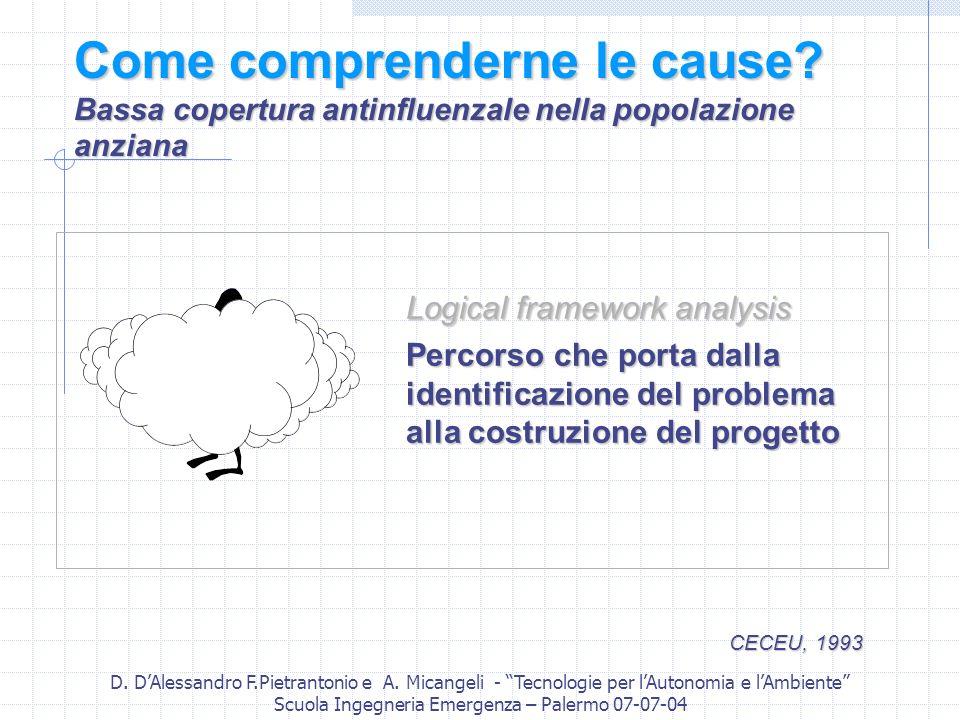 D. DAlessandro F.Pietrantonio e A. Micangeli - Tecnologie per lAutonomia e lAmbiente Scuola Ingegneria Emergenza – Palermo 07-07-04 Come comprenderne