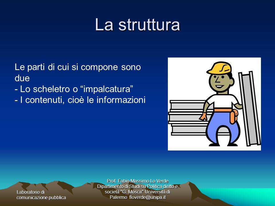 Laboratorio di comunicazione pubblica Prof. Fabio Massimo Lo Verde Dipartimento di Studi su Politica diritto e società