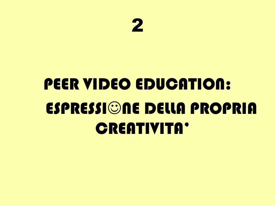 2 PEER VIDEO EDUCATION: ESPRESSI NE DELLA PROPRIA CREATIVITA