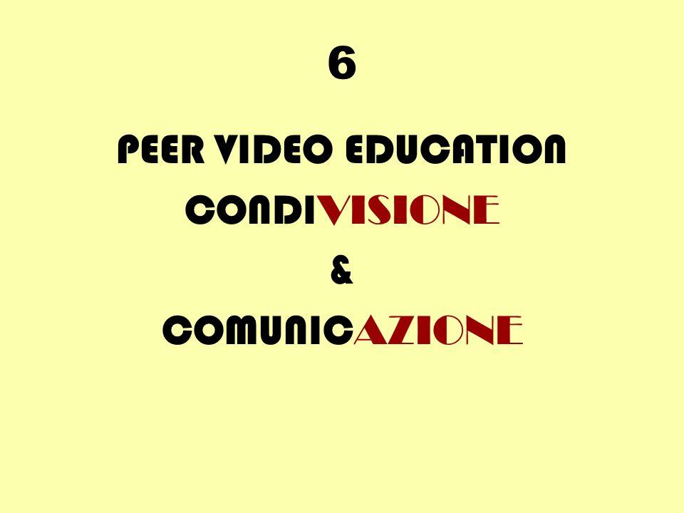 6 PEER VIDEO EDUCATION CONDI VISIONE & COMUNIC AZIONE