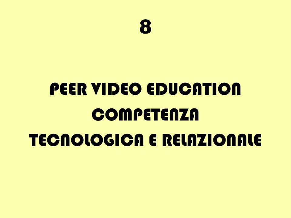 8 PEER VIDEO EDUCATION COMPETENZA TECNOLOGICA E RELAZIONALE