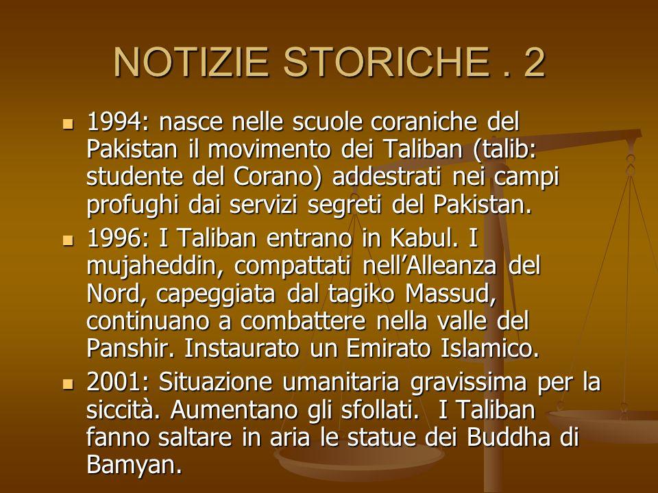NOTIZIE STORICHE.