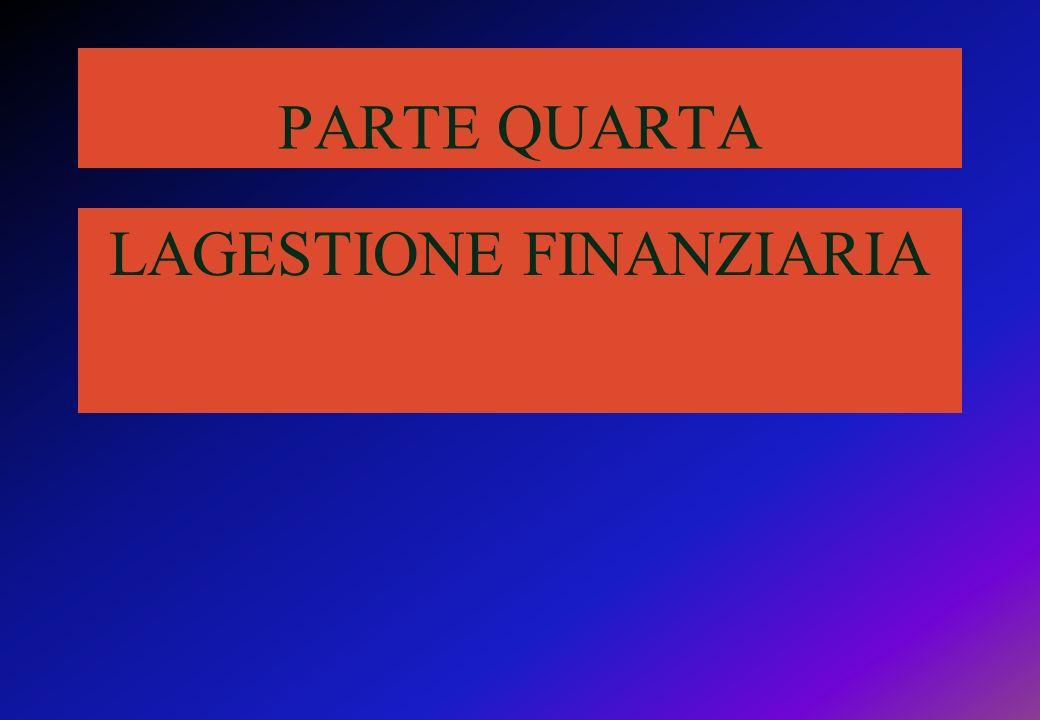 PARTE QUARTA LAGESTIONE FINANZIARIA