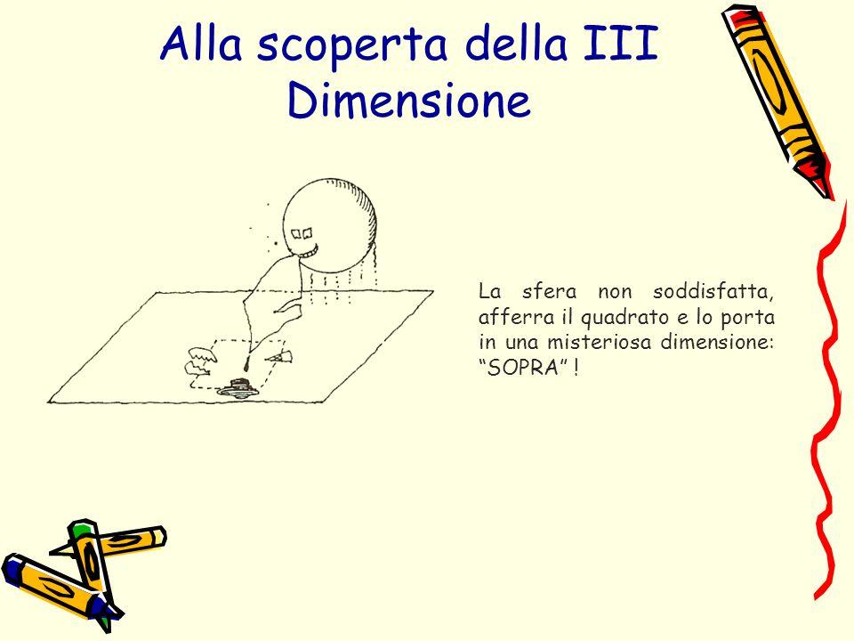 La sfera non soddisfatta, afferra il quadrato e lo porta in una misteriosa dimensione: SOPRA ! Alla scoperta della III Dimensione