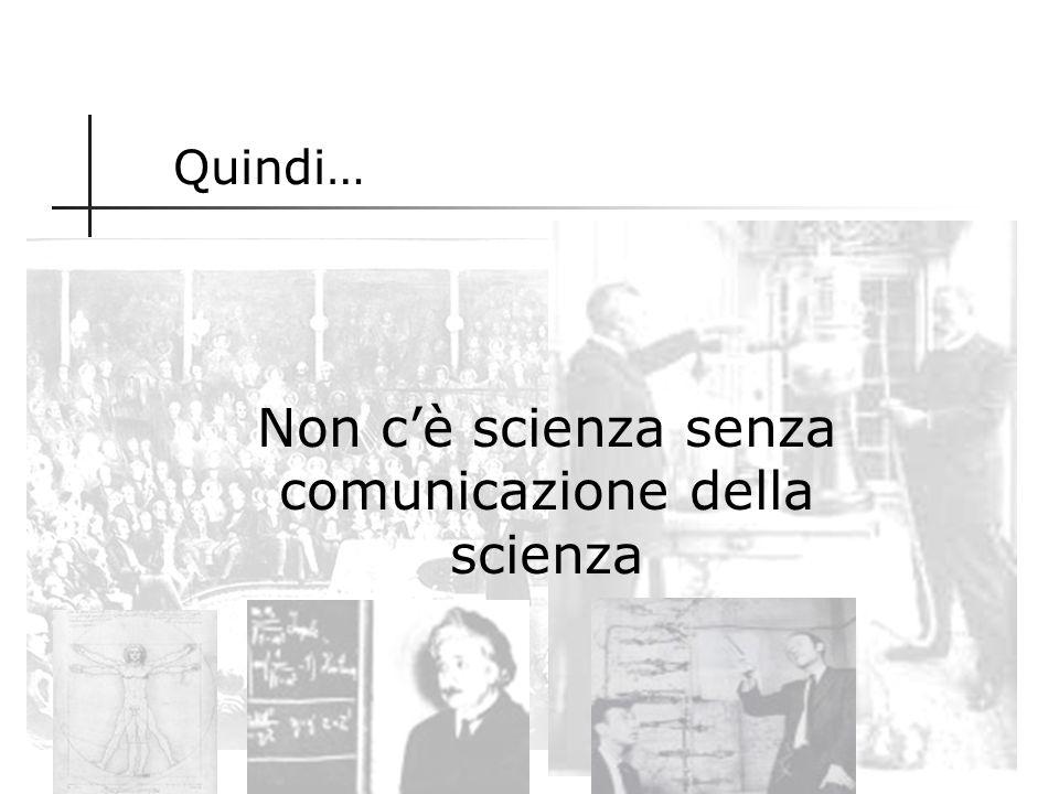 Principio fondamentale della Scienza Pubblicità dei risultati della ricerca Le scoperte fanno parte della conoscenza scientifica nel momento in cui so