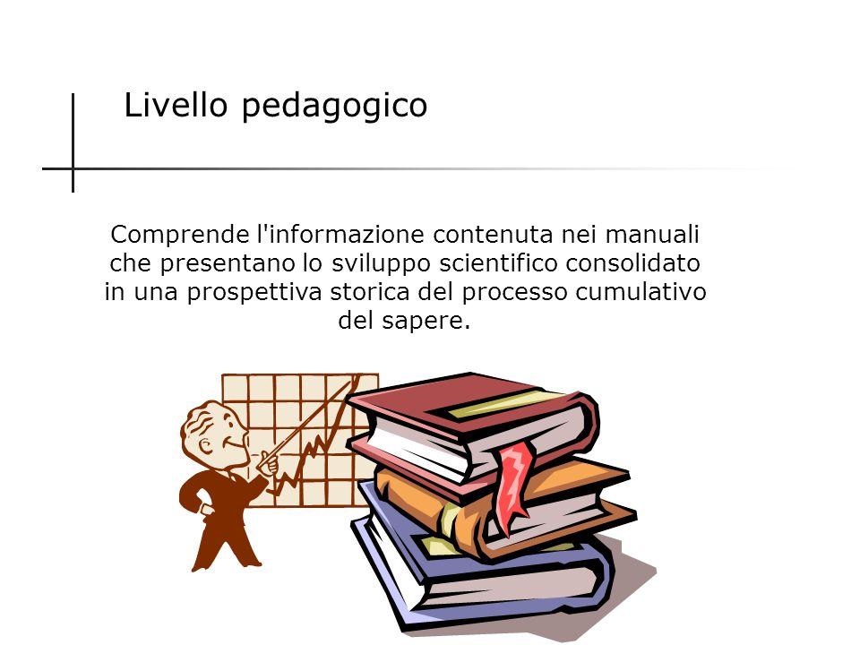 Livello interspecialistico Si rivolge a persone di istruzione medio alta ed è attuata da scienziati o giornalisti scientifici attraverso riviste speci