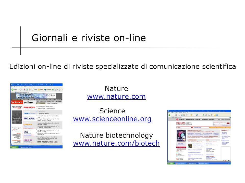 Giornali e riviste on-line Edizioni on-line di periodici cartacei di comunicazione scientifica Focus con www.focus.itwww.focus.it National Geographic