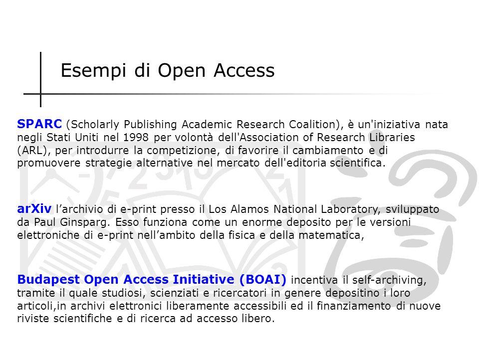 Iniziative di Open Access È un modello di editoria scientifica radicalmente decentralizzato, nel quale gli autori sono chiamati ad autopubblicare i pr