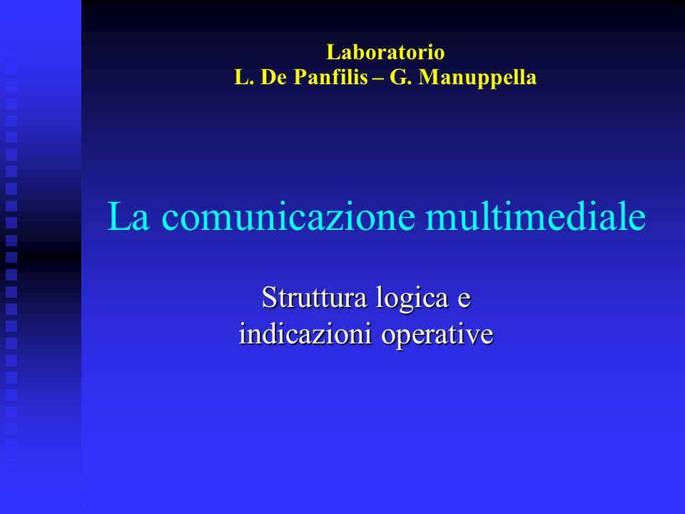 La comunicazione multimediale Struttura logica e indicazioni operative Laboratorio L. De Panfilis – G. Manuppella