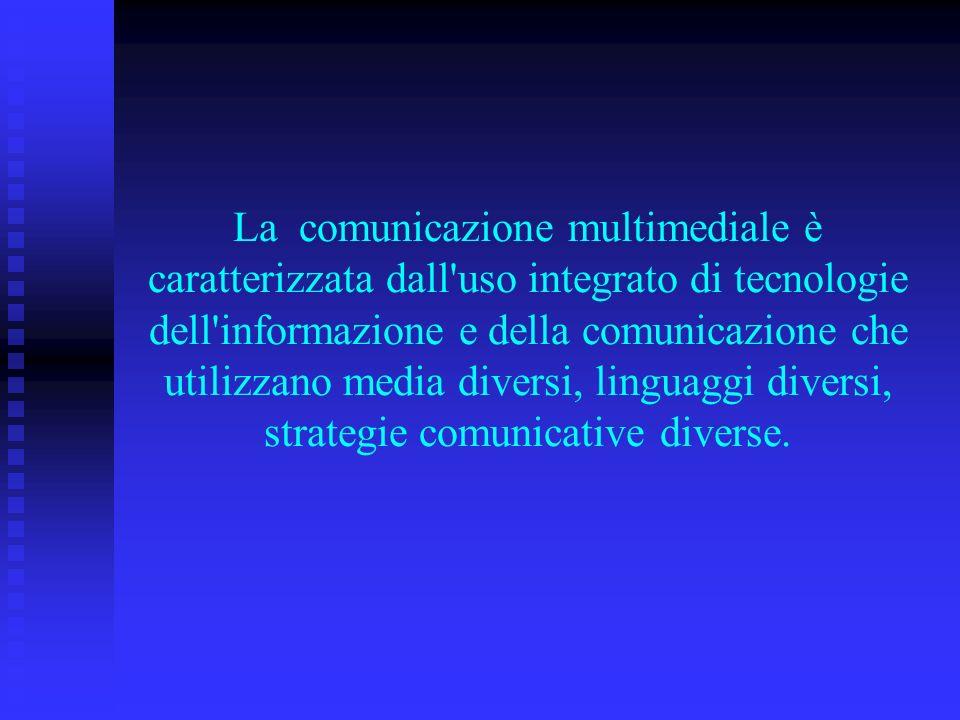 La comunicazione multimediale è caratterizzata dall'uso integrato di tecnologie dell'informazione e della comunicazione che utilizzano media diversi,