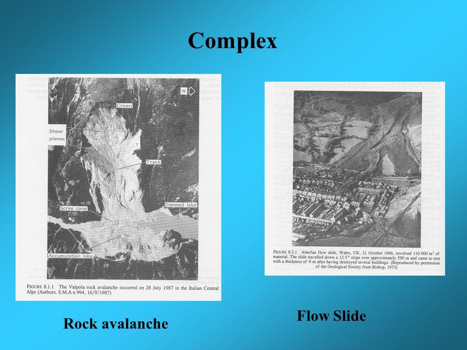 Complex Rock avalanche Flow Slide