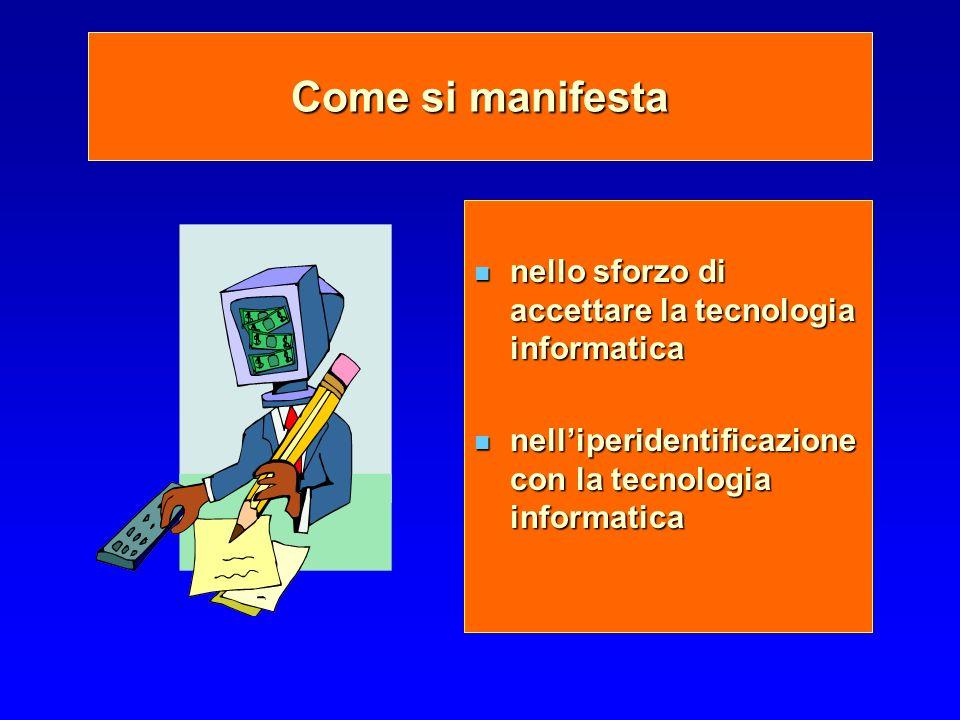 Come si manifesta nello sforzo di accettare la tecnologia informatica nello sforzo di accettare la tecnologia informatica nelliperidentificazione con