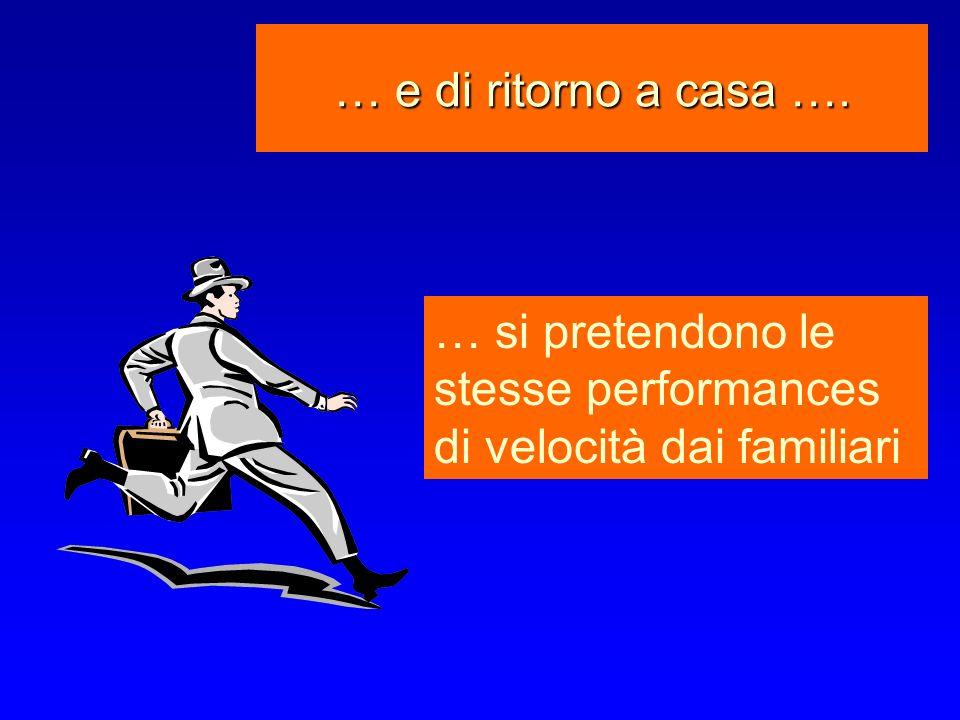 … e di ritorno a casa …. … si pretendono le stesse performances di velocità dai familiari