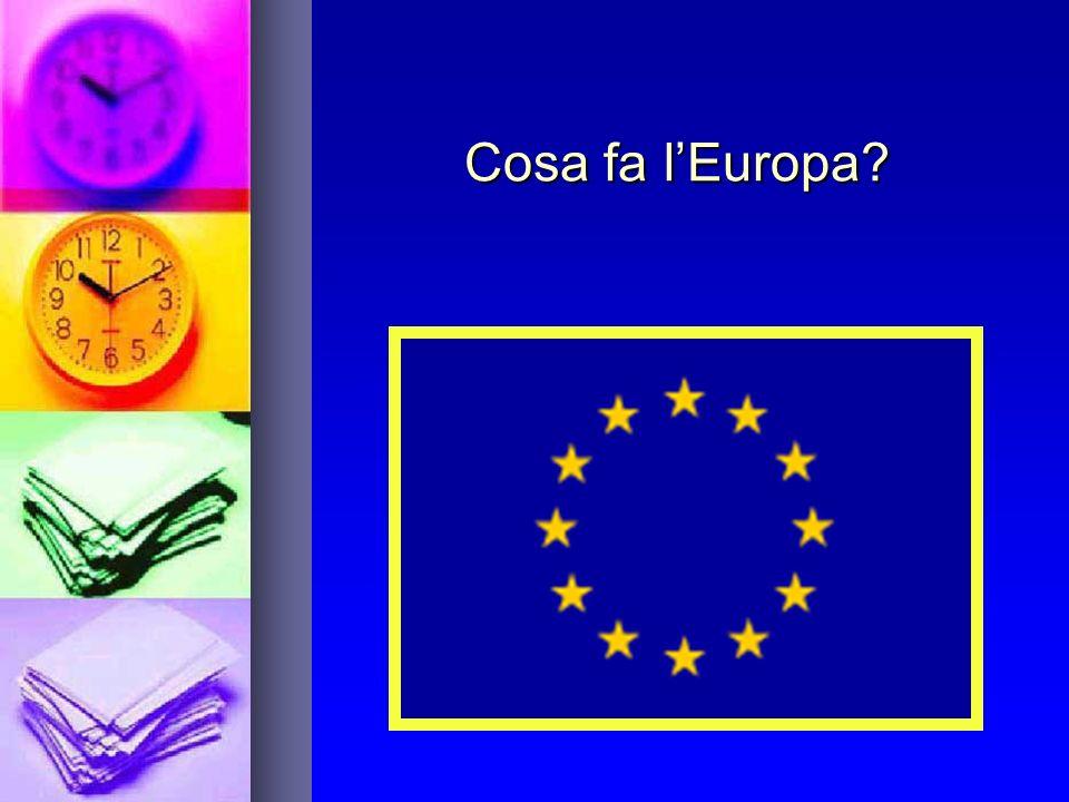 Cosa fa lEuropa?