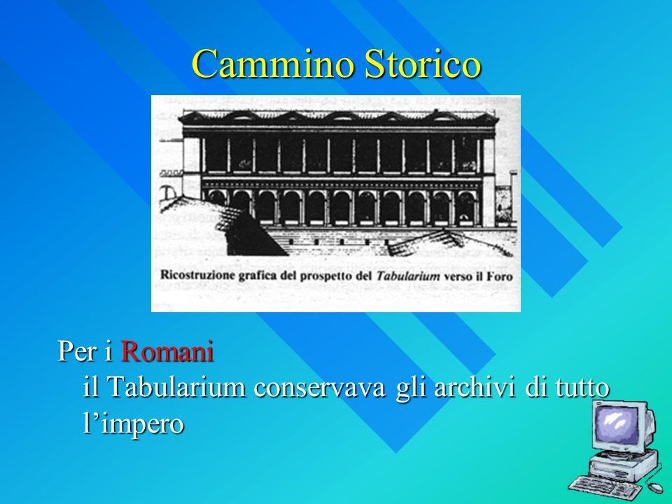 Cammino Storico Per i Romani il Tabularium conservava gli archivi di tutto limpero