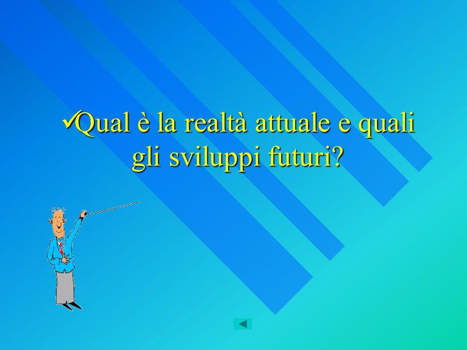 Qual è la realtà attuale e quali gli sviluppi futuri? Qual è la realtà attuale e quali gli sviluppi futuri?