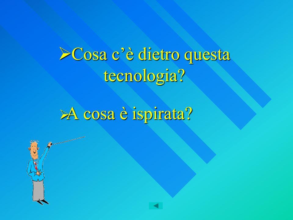 Cosa cè dietro questa tecnologia? Cosa cè dietro questa tecnologia? A cosa è ispirata? A cosa è ispirata?