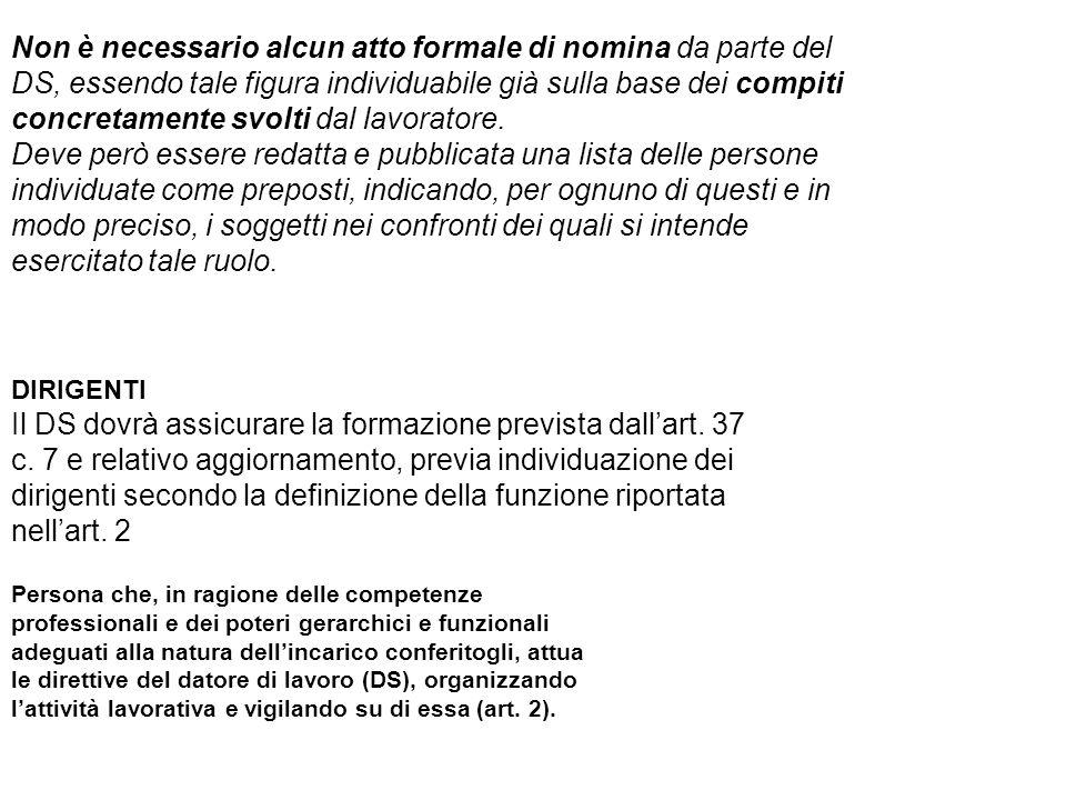 di individuazione del preposto e del dirigente fra le varie figure scolastiche DIRIGENTE SCOLASTICO/DL 2.