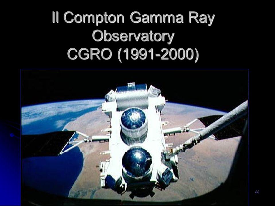 33 Il Compton Gamma Ray Observatory CGRO (1991-2000)