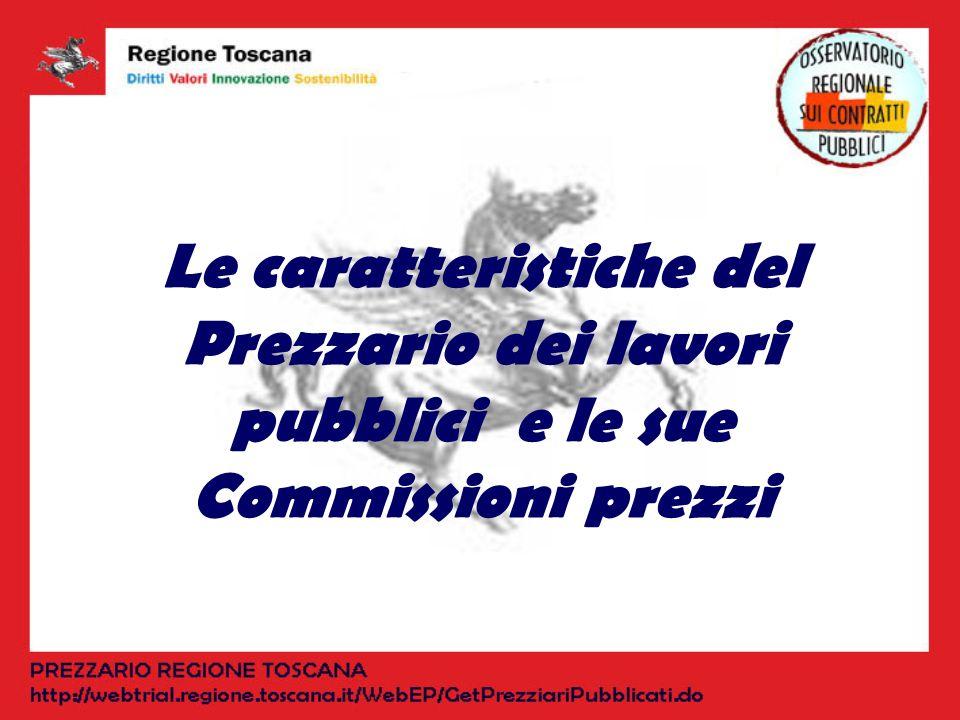 Le caratteristiche del Prezzario dei lavori pubblici e le sue Commissioni prezzi