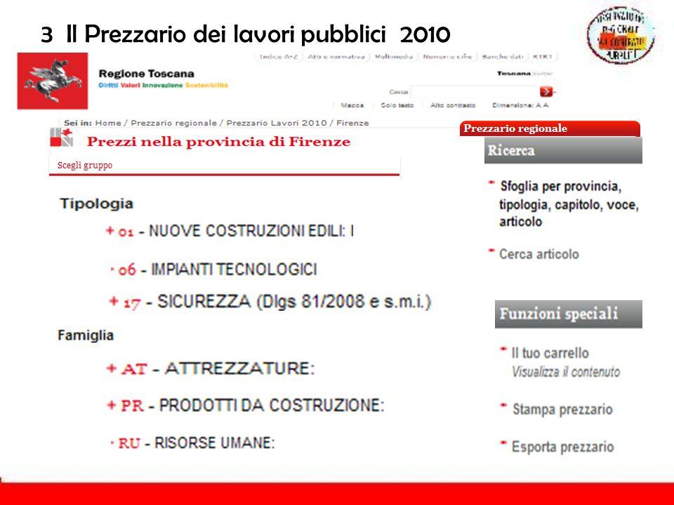 3 Il Prezzario dei lavori pubblici 2010