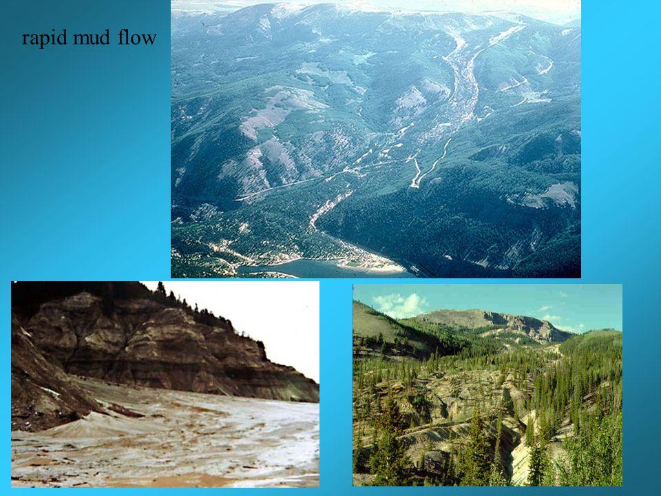 rapid mud flow