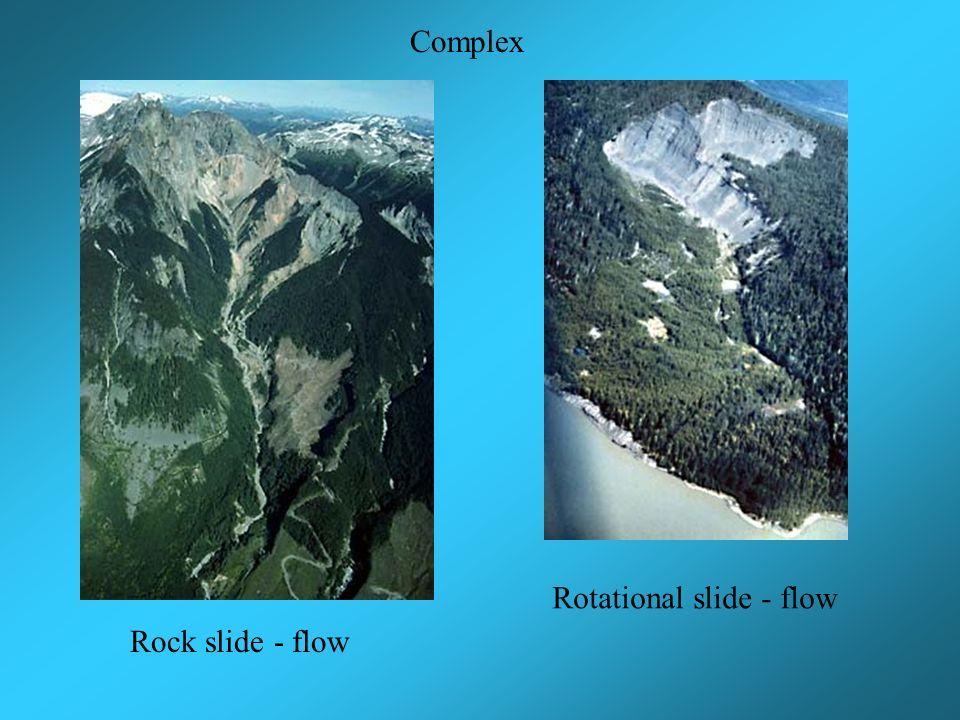 Rock slide - flow Rotational slide - flow Complex