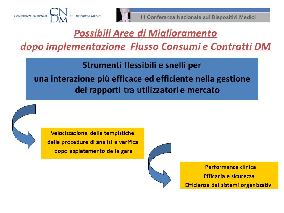 Strumenti flessibili e snelli per una interazione più efficace ed efficiente nella gestione dei rapporti tra utilizzatori e mercato Possibili Aree di