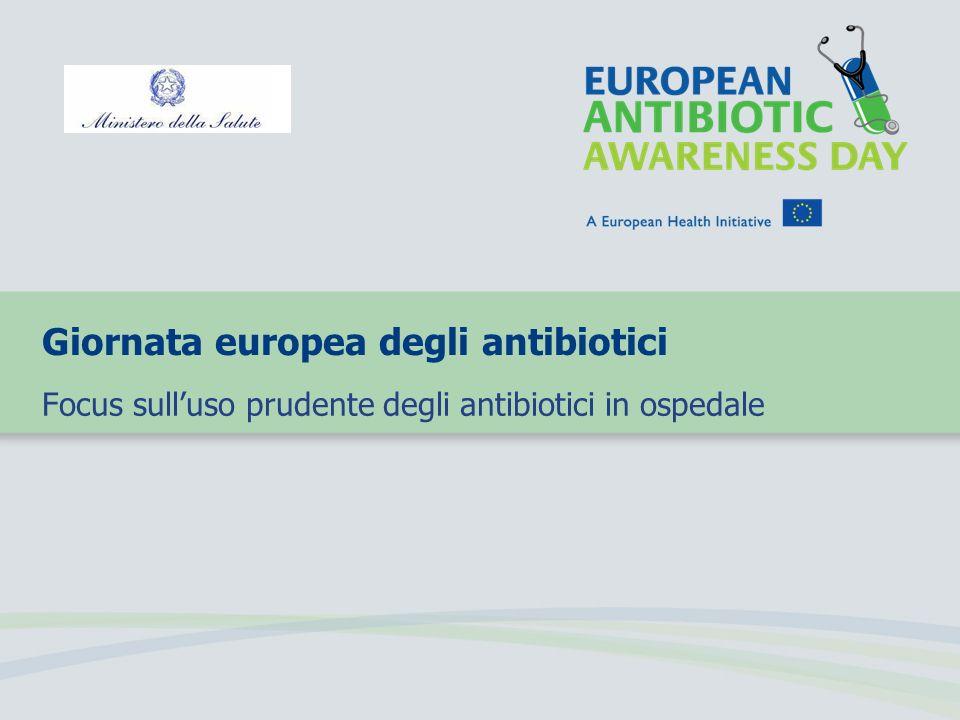 Giornata europea degli antibiotici Focus sulluso prudente degli antibiotici in ospedale