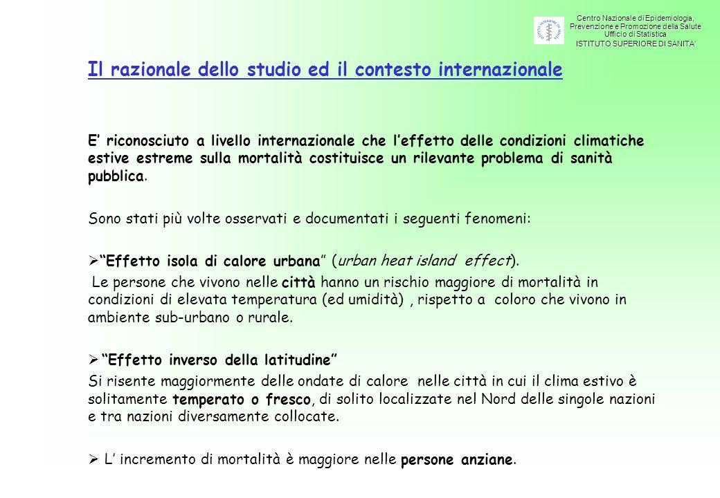 Metodologia degli studi condotti in seguito alle emergenze estive.