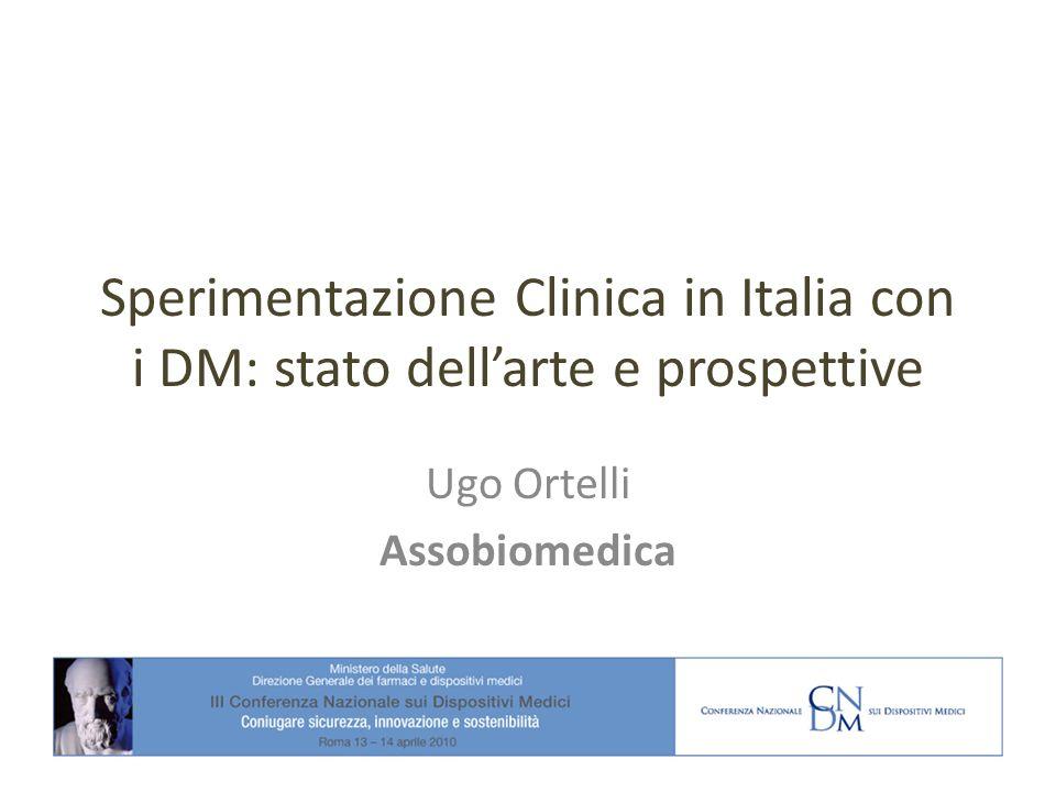 Sperimentazione Clinica in Italia con i DM: stato dellarte e prospettive Ugo Ortelli Assobiomedica