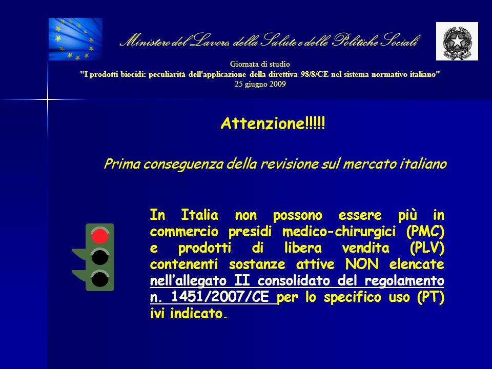 Ministero del Lavoro, della Salute e delle Politiche Sociali Giornata di studio I prodotti biocidi: peculiarità dell applicazione della direttiva 98/8/CE nel sistema normativo italiano 25 giugno 2009
