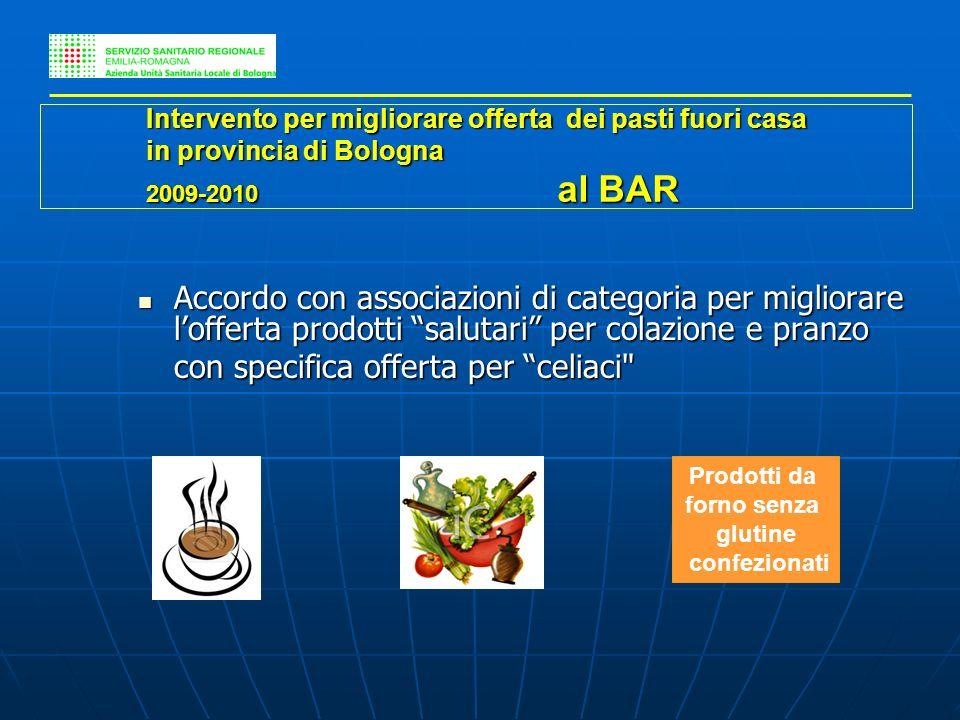 Accordo con associazioni di categoria per migliorare lofferta prodotti salutari per colazione e pranzo Accordo con associazioni di categoria per migli