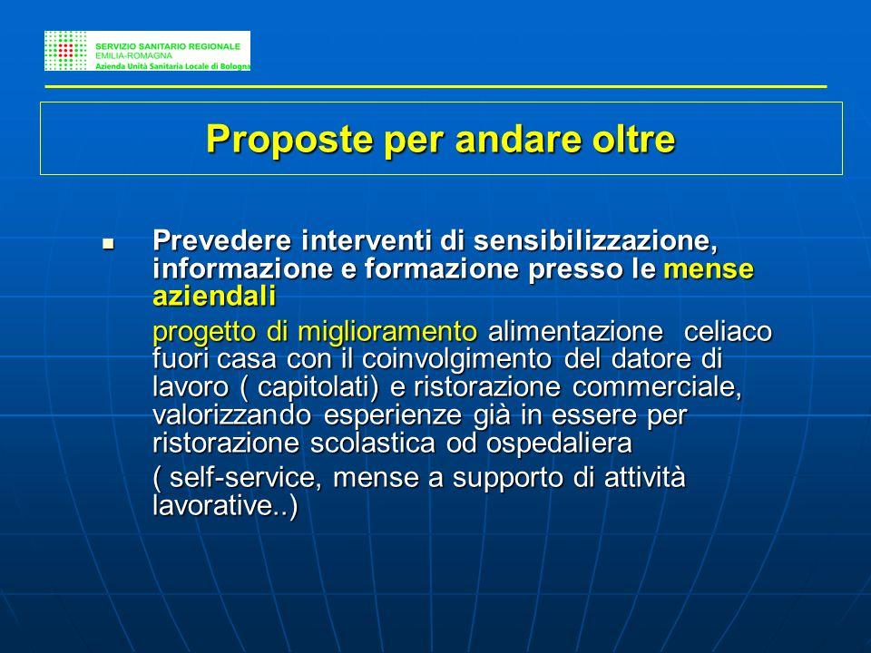 Prevedere interventi di sensibilizzazione, informazione e formazione presso le mense aziendali Prevedere interventi di sensibilizzazione, informazione