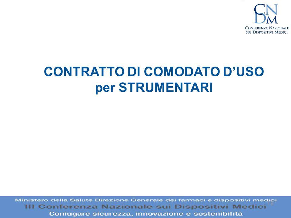 18 CONTRATTO DI COMODATO DUSO per STRUMENTARI