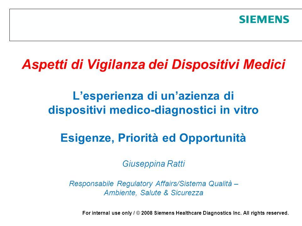 Page 2 25 giugno 2008 Protection notice / © 2008 Siemens Healthcare Diagnostics Inc.