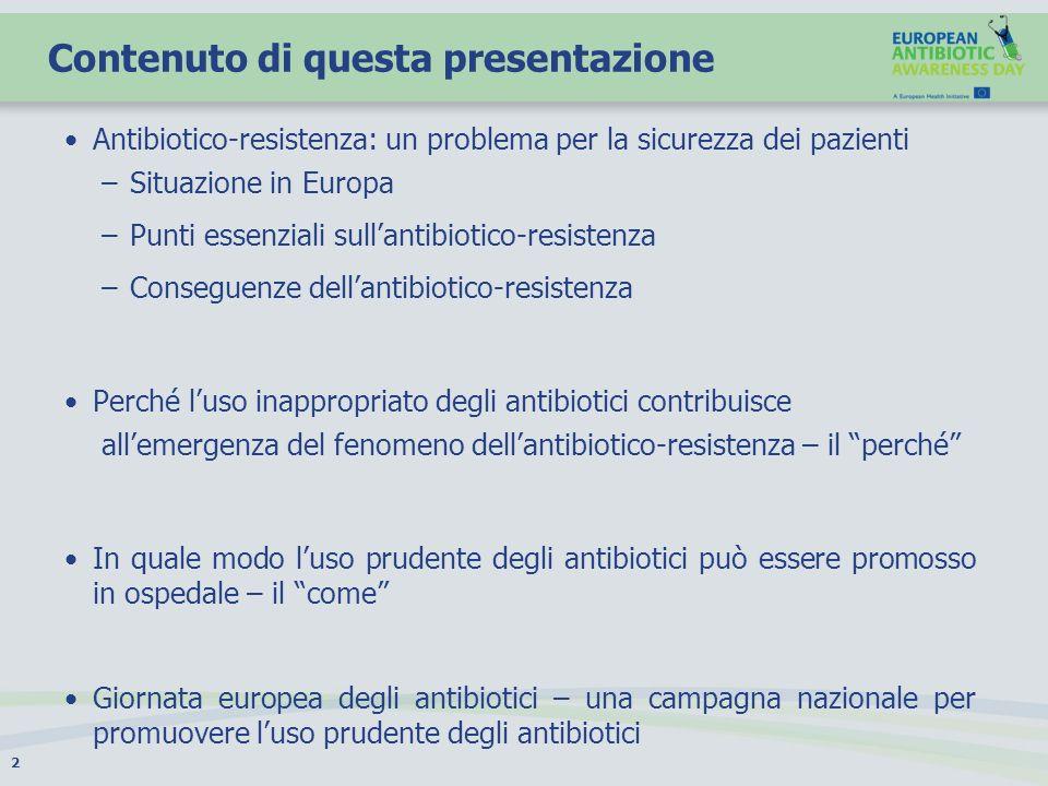 Antibiotico-resistenza: un problema per la sicurezza dei pazienti 3