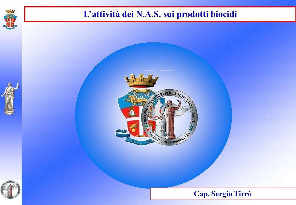 Lattività dei N.A.S. sui prodotti biocidi Cap. Sergio Tirrò